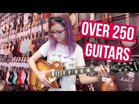 I played every guitar in Guitar Center