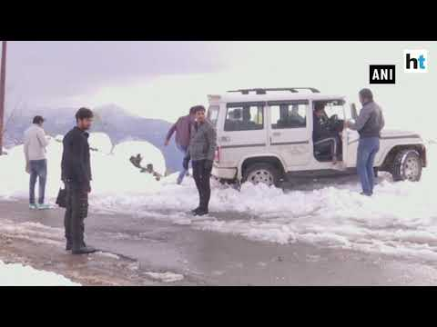 Watch: Heavy snowfall
