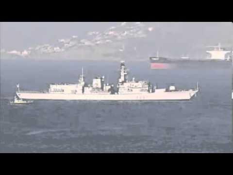 Gibraltar  British Warship Arrives   HMS Westminster Arrives At Rock
