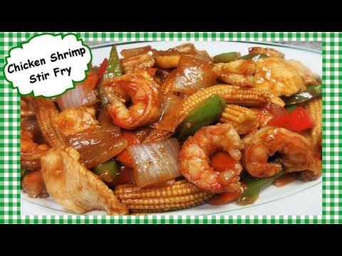 Chinese Chicken & Shrimp Stir Fry With BBQ Plum Sauce Recipe