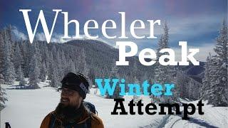 Wheeler Peak Winter Attempt