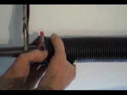 Garage door spring trick