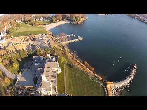 Drone over Greenwich Harbor and some pretty prime real estate