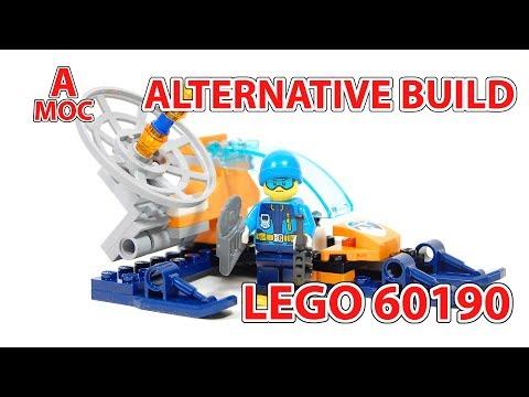 LEGO 60190 Alternative build Arctic communication glider [A MOC]