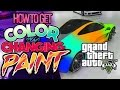 GTA V: HOW TO GET COLOR CHANGING CARS! (RAINBOW PAINT) EASTER EGG!