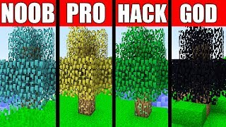 Minecraft Battle: NOOB vs PRO vs HACKER vs GOD - SUPER ORE TREE Challenge in Minecraft