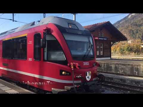 Tour en train et bus de remplacement Alpes et Basel - 4 novembre 2017 - Transports Publics Suisses