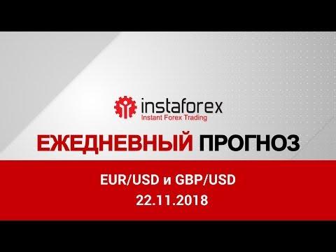 EUR/USD и GBP/USD: прогноз на 22.11.2018 от Максима Магдалинина
