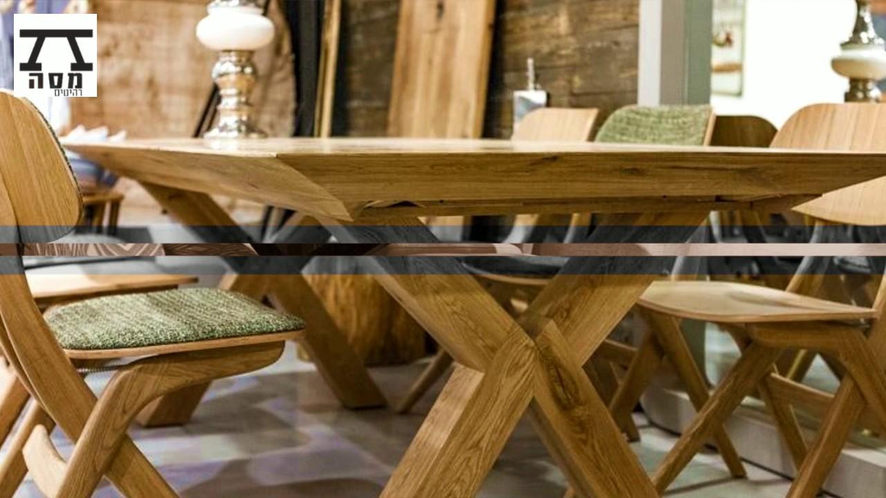 סופר פינת אוכל מעץ - שולחנות אוכל מעץ מלא - מסה רהיטים - YouTube NN-38