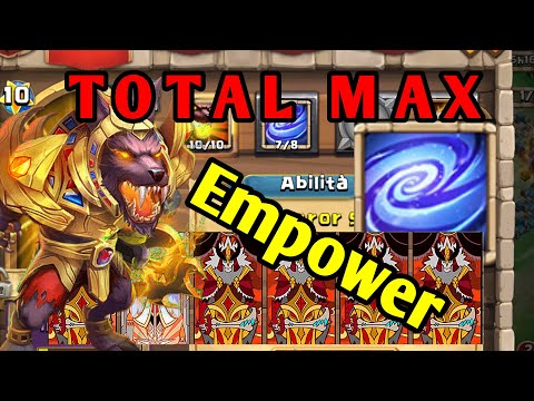 ANUBIS Total MAX 10/10 EMPOWER Talent! Talento RAFFORZARE - Devastante!   Castle Clash ITA
