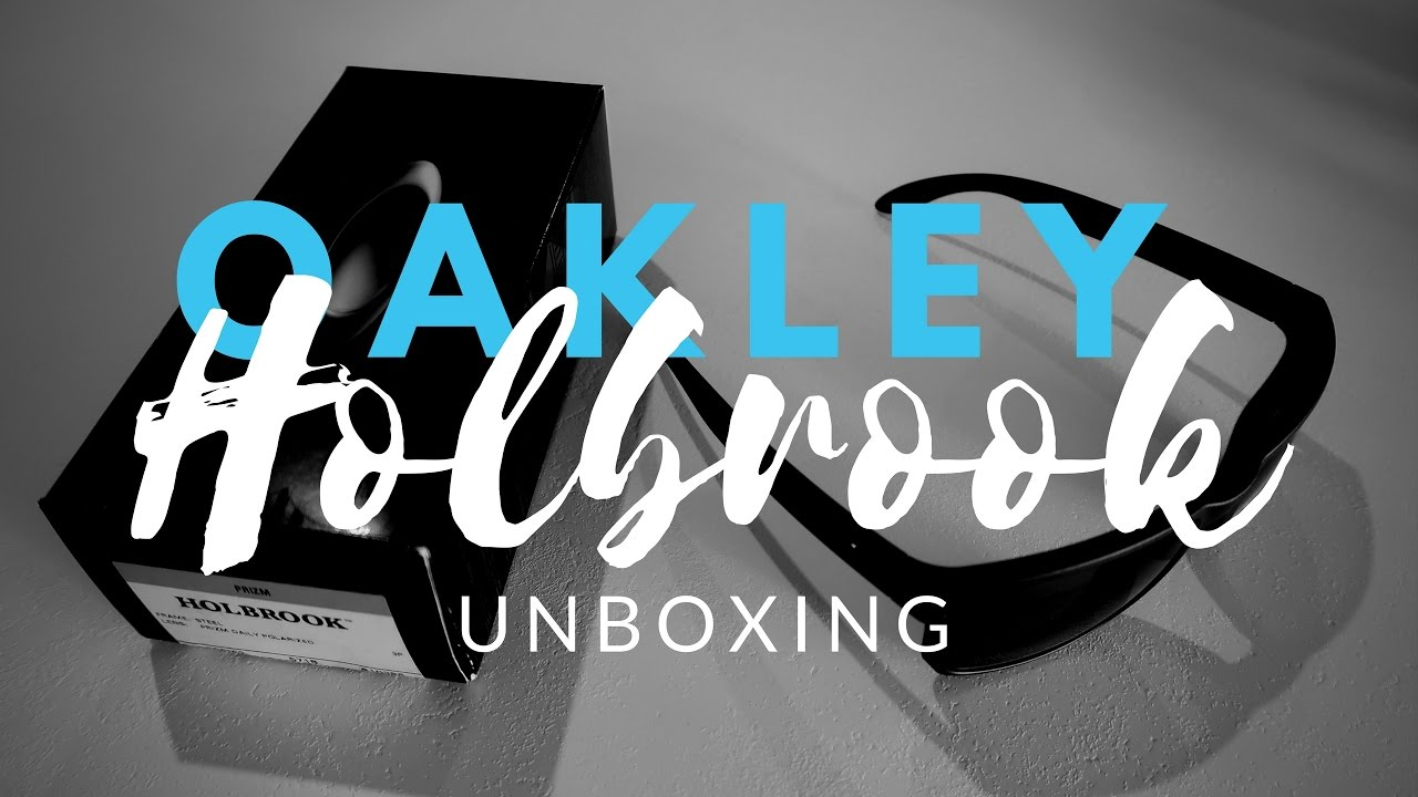 ca5bd2f4be0 Oakley Holbrook Prizm Daily Polarized - Unboxing - Steel - Genuine ...