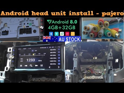 Android head unit install - Pajero