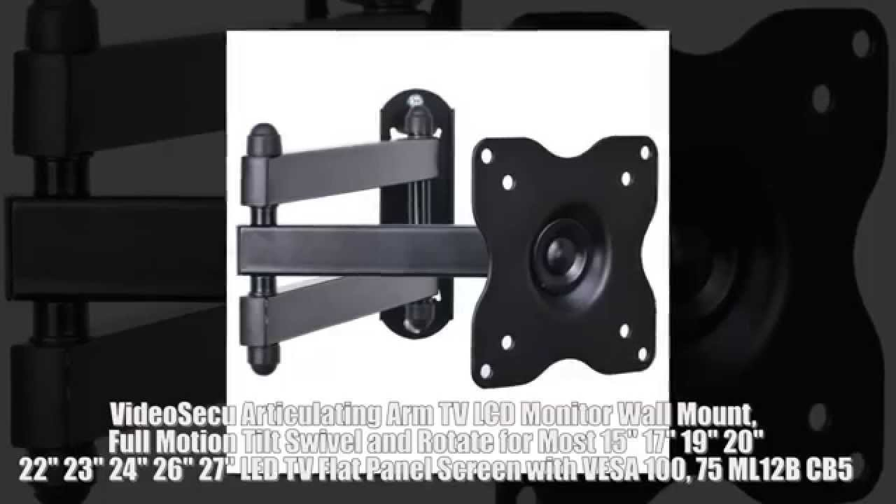 videosecu articulating arm tv lcd monitor wall mount full motion tilt swivel and rotate led tv. Black Bedroom Furniture Sets. Home Design Ideas