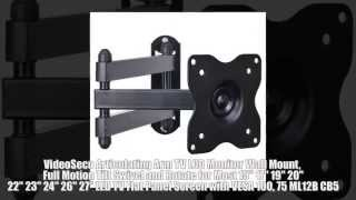 VideoSecu Articulating Arm TV LCD Monitor Wall Mount, Full Motion Tilt Swivel and Rotate LED TV Flat