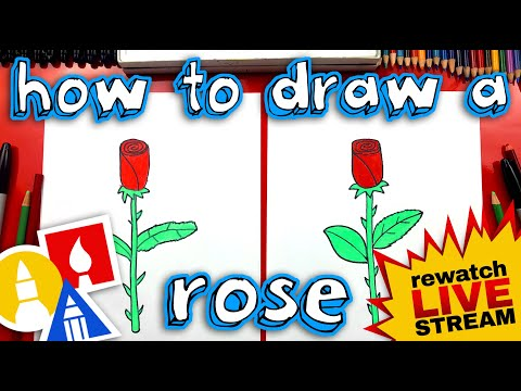 How To Draw A Rose For Mother's Day!