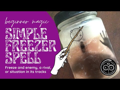 Simple Freezer Protection Spell - Freeze an ememy, rival or situation in its tracks