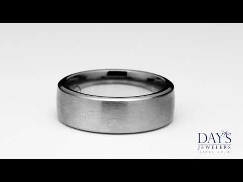 Benchmark Mens Wedding Band in Cobalt Chrome (7.5mm)
