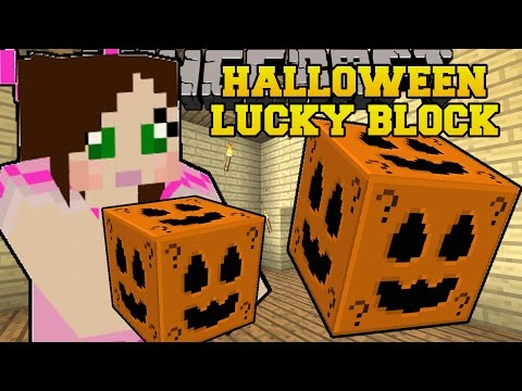 Minecraft: HALLOWEEN LUCKY BLOCK (HUGE STRUCTURES, SLENDERMAN, & MORE!) Mod Showcase