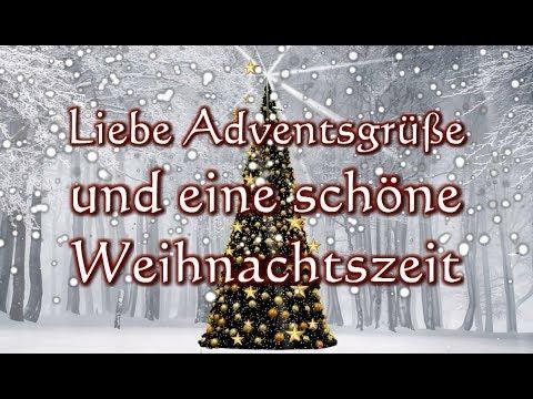 Adventsgruß: Liebe Adventsgrüße und eine schöne Weihnachtszeit