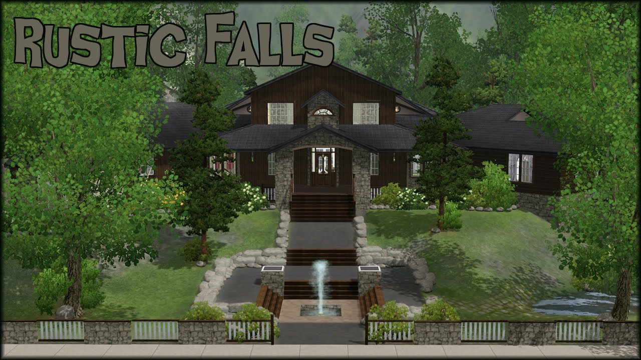 the sims 3 home building rustic falls youtube