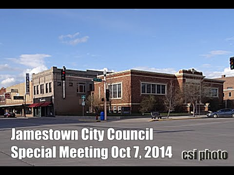 City Council Special Meeting Tours Library Jamestown ND