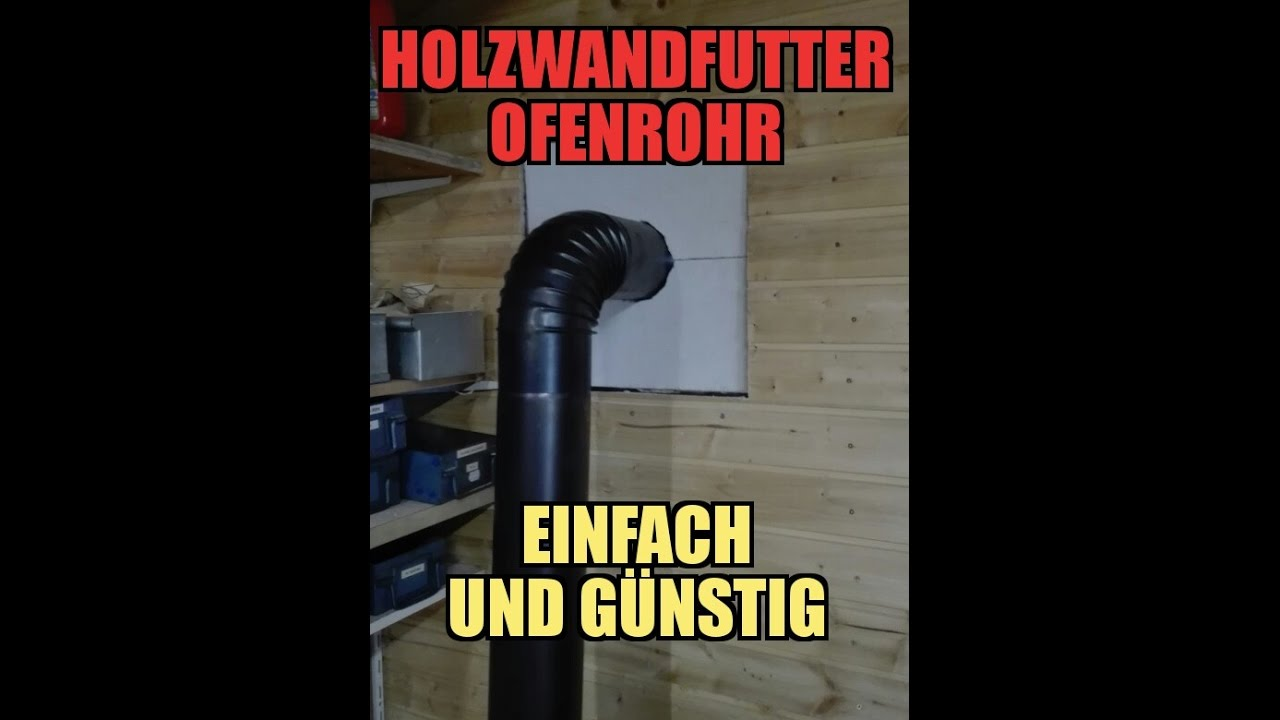 holzwandfutter f r ein ofenrohr einfach g nstig. Black Bedroom Furniture Sets. Home Design Ideas