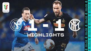 NAPOLI 1-1 INTER   COPPA ITALIA HIGHLIGHTS   Ospina denies an Inter comeback  😤⚫🔵