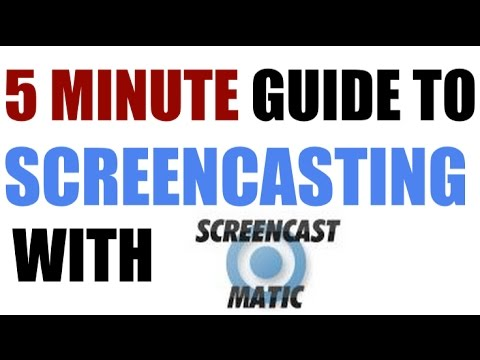 5 Minute Guide to Screencasting