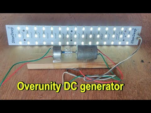 How to make a Overunity DC generator using DC motor at home