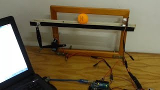 arduino pid balancing of a ball on beam code