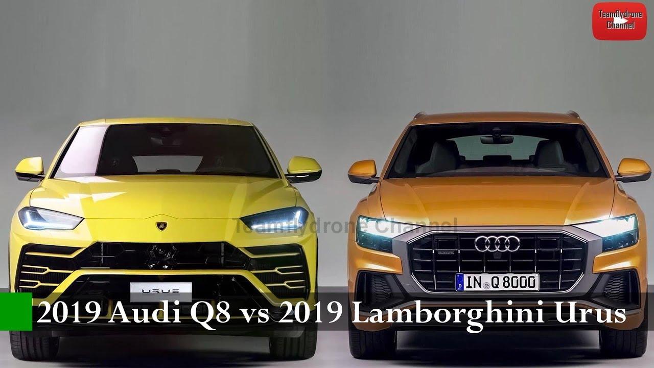 Comparison Test 2019 Audi Q8 Vs 2019 Lamborghini Urus The World S