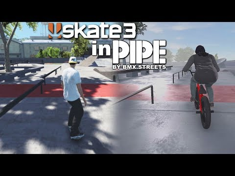 BMX PIPE in SKATE 3 - Skating The Community Center