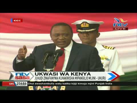 President Uhuru Kenyatta at KICC for national mapping status update