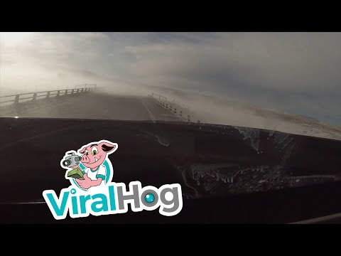 Wind Gust Rolls Truck over like Toy || ViralHog