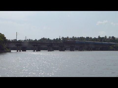 KERALA EXPRESS OVER PERUMON BRIDGE