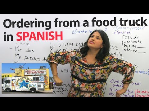 Learn to Order Food in Spanish