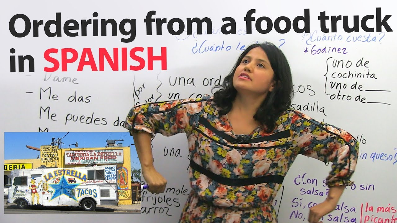 Learn To Order Food In Spanish Youtube