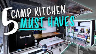 Top 5 things y๐ur camp kitchen needs to have | DIY Canopy Setup