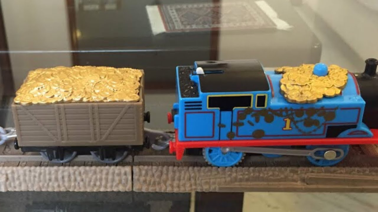 Fisher price thomas amp friends trackmaster treasure chase set new - Thomas And Friends Trackmaster Motorized Treasure Thomas From Sodor S Legend Of The Lost Treasure Youtube