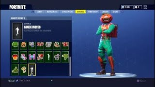 Fortnite buying the tomato head skin and fresh emote