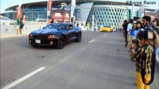 Muscle Cars at the 2014 Dubai Grand Parade