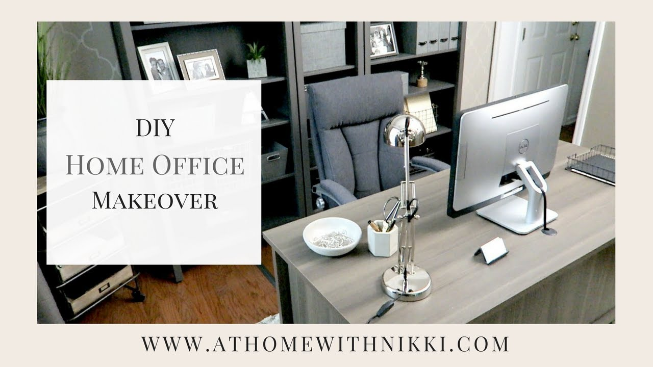 HOME ORGANIZATION IDEAS | MASCULINE HOME OFFICE MAKEOVER | My Husbandu0027s New Home  Office