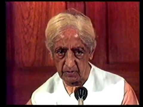 What is a problem?   J. Krishnamurti