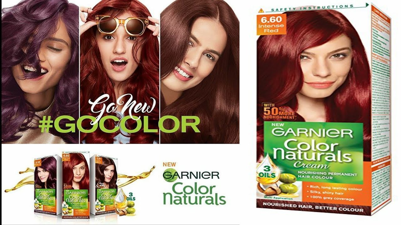 Garnier Color Naturals Cream 660 Intense Red Review Youtube