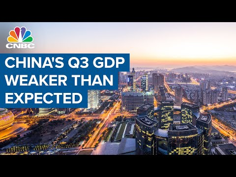 China's Q3 GDP weaker than expected, grows at slowest pace in the year