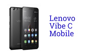 Lenovo Vibe C Mobile [Release in INDIA May 2016]