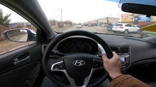 2013 Hyundai Solaris 1.6L POV Test Drive смотреть