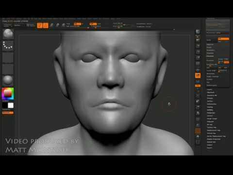 Z-brush Tutorial video - how to sculpt a head 2 of 3 - For beginners
