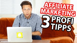 💸AFFILIATE MARKETING💸 - 3 Profi Tipps und Tricks (feat. Joschka Budach) | #FragDenDan