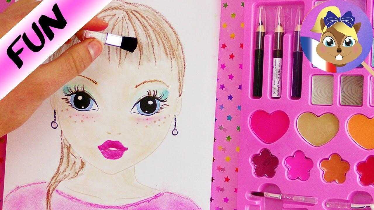 Make up challenge cahier de dessin topmodel dessiner avec du maquillage joue avec moi - Photo de dessin top model ...